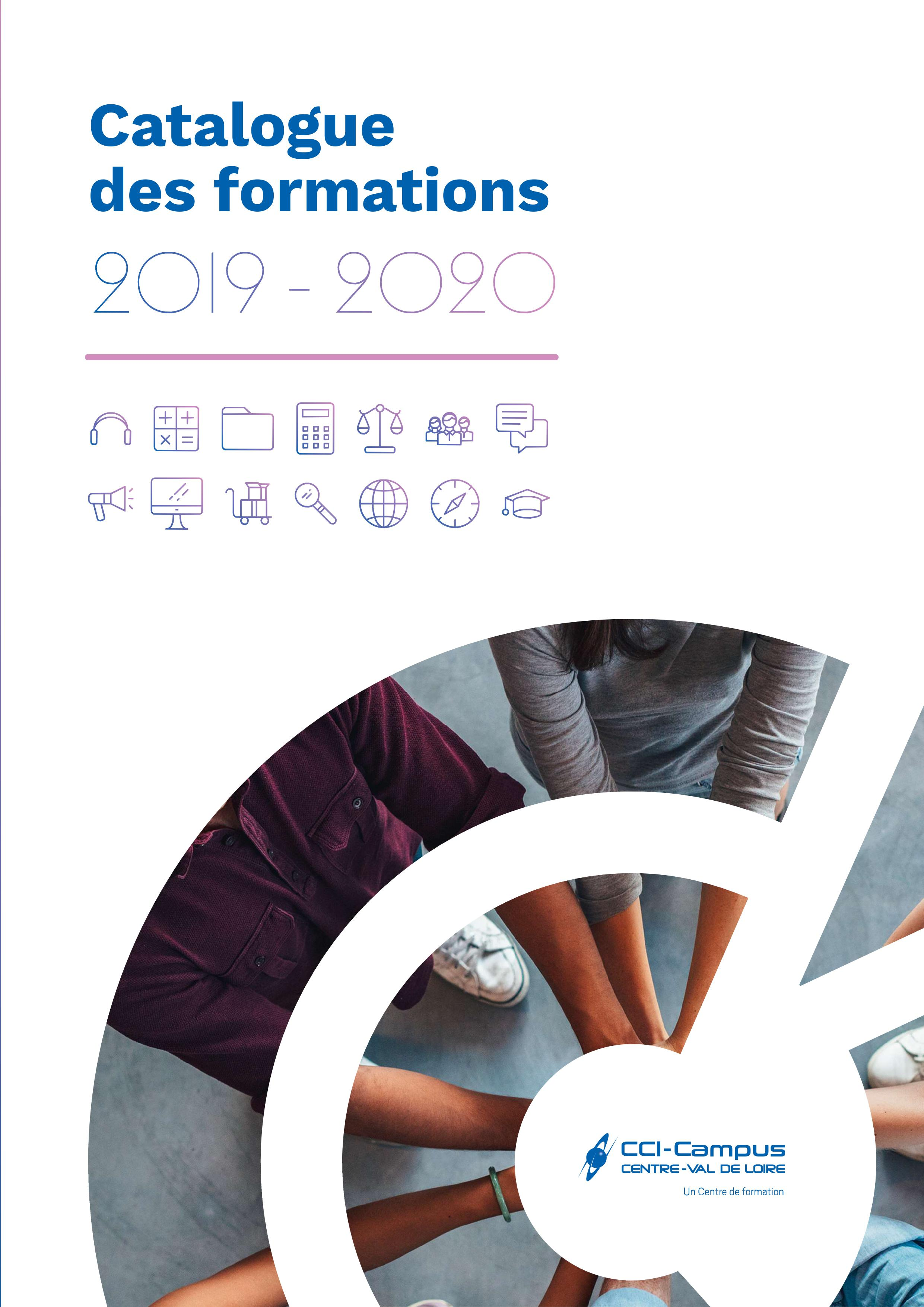 couverture du catalogue 2019 2020 formations campus cci28